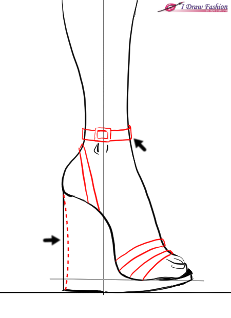 Drawn shoe sketch heel Draw sketches How draw wedges