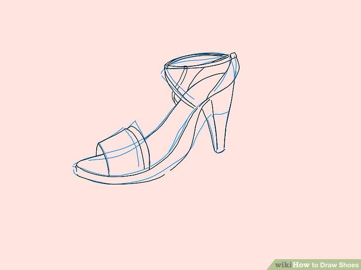 Drawn shoe sketched #8