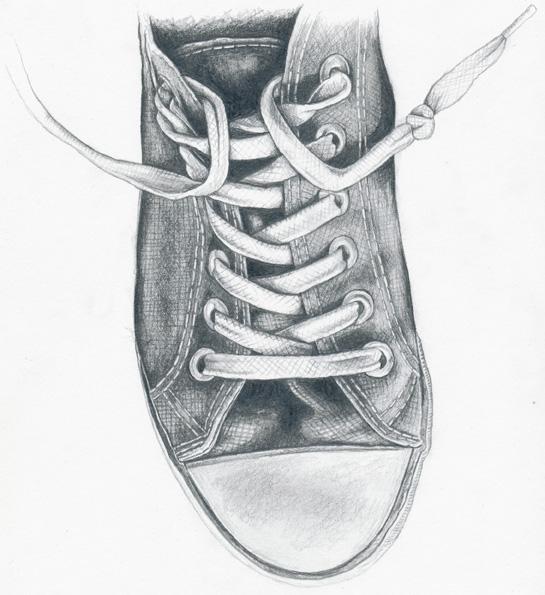 Drawn shoe sketched #4