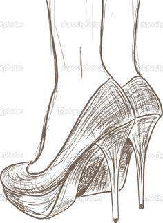 Drawn shoe sketched Chaussure draw How  handbags