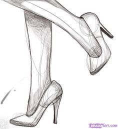 Drawn shoe sketched For com/tuts/ Best shoes SketchesDrawing