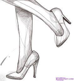 Drawn shoe sketched #11