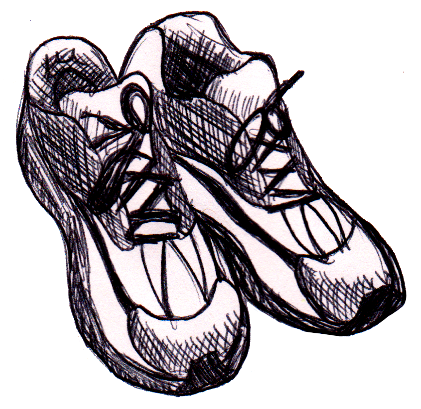 Drawn shoe sketched By Shoes on DanDanTheArtMan Running