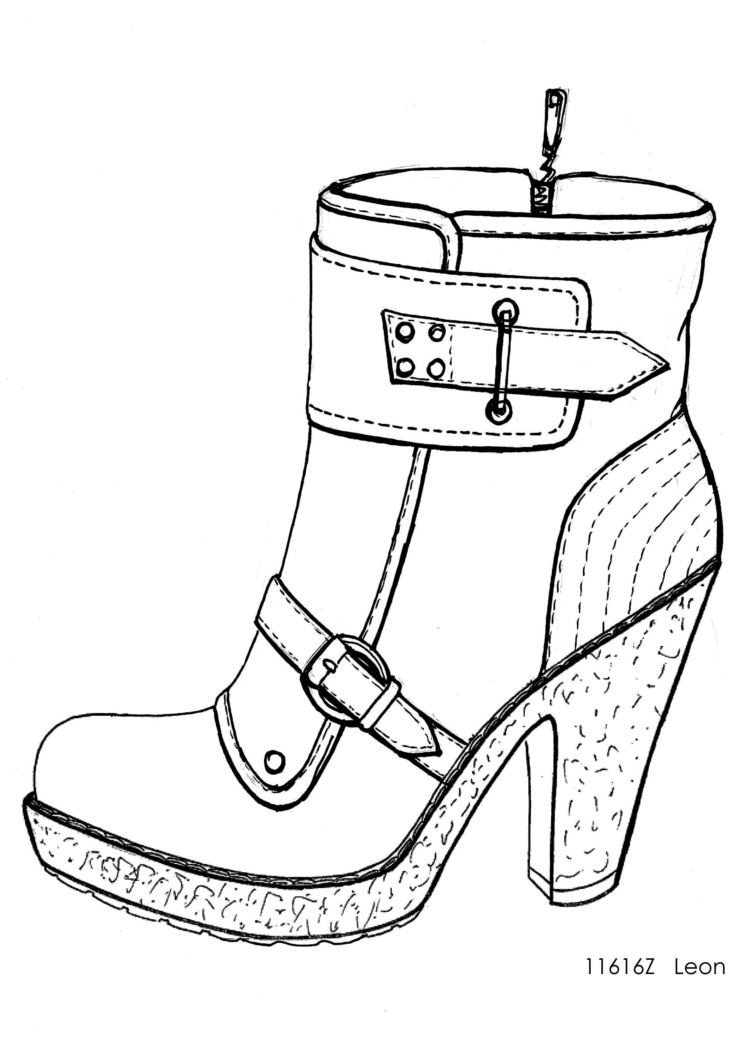 Drawn shoe sketched #10