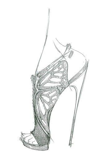 Drawn shoe sketched #2