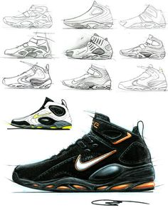 Drawn shoe sketched #13