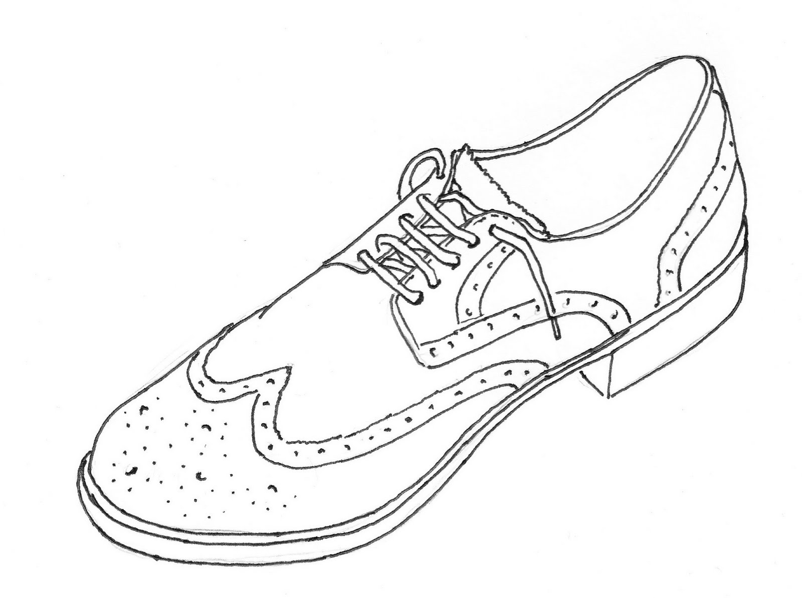 Drawn shoe sketched UP Page Pen Tes Shoes: