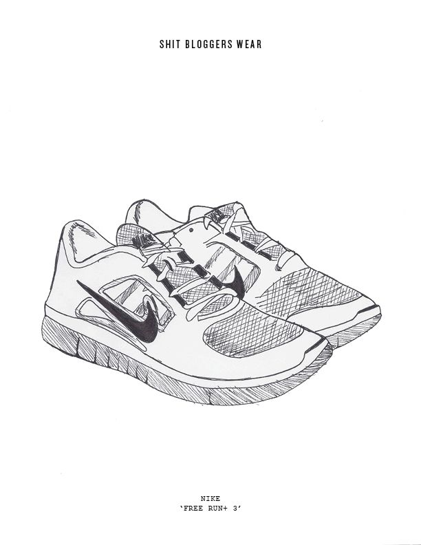 Drawn shoe sport shoe #6