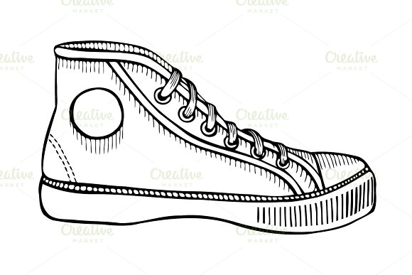 Drawn shoe sport shoe #7