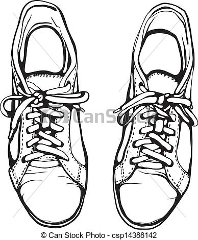 Drawn shoe sport shoe #5