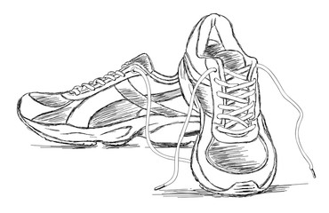Drawn shoe sport shoe #4