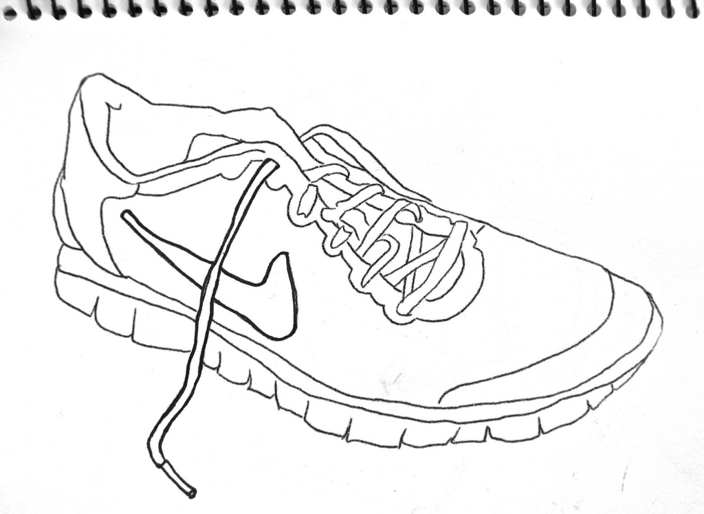 Drawn shoe sport shoe #3