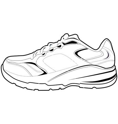 Drawn shoe sport shoe #11