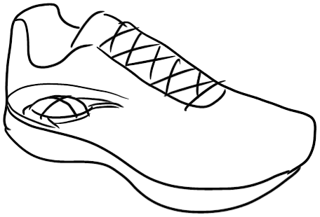 Drawn shoe sport shoe #2