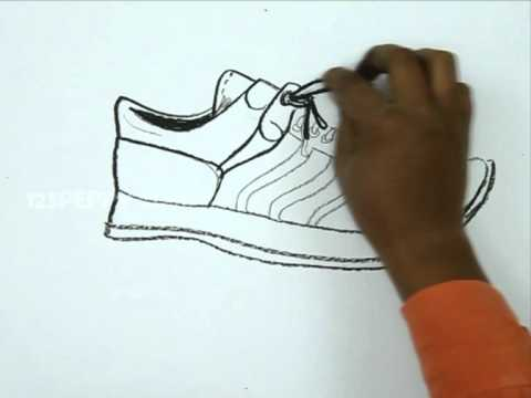 Drawn shoe sport shoe #9
