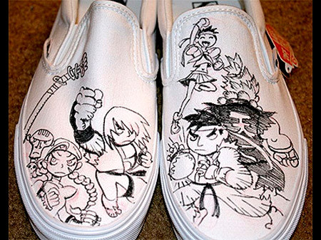 Drawn shoe street fighter And TechEBlog Photo Fighter Street
