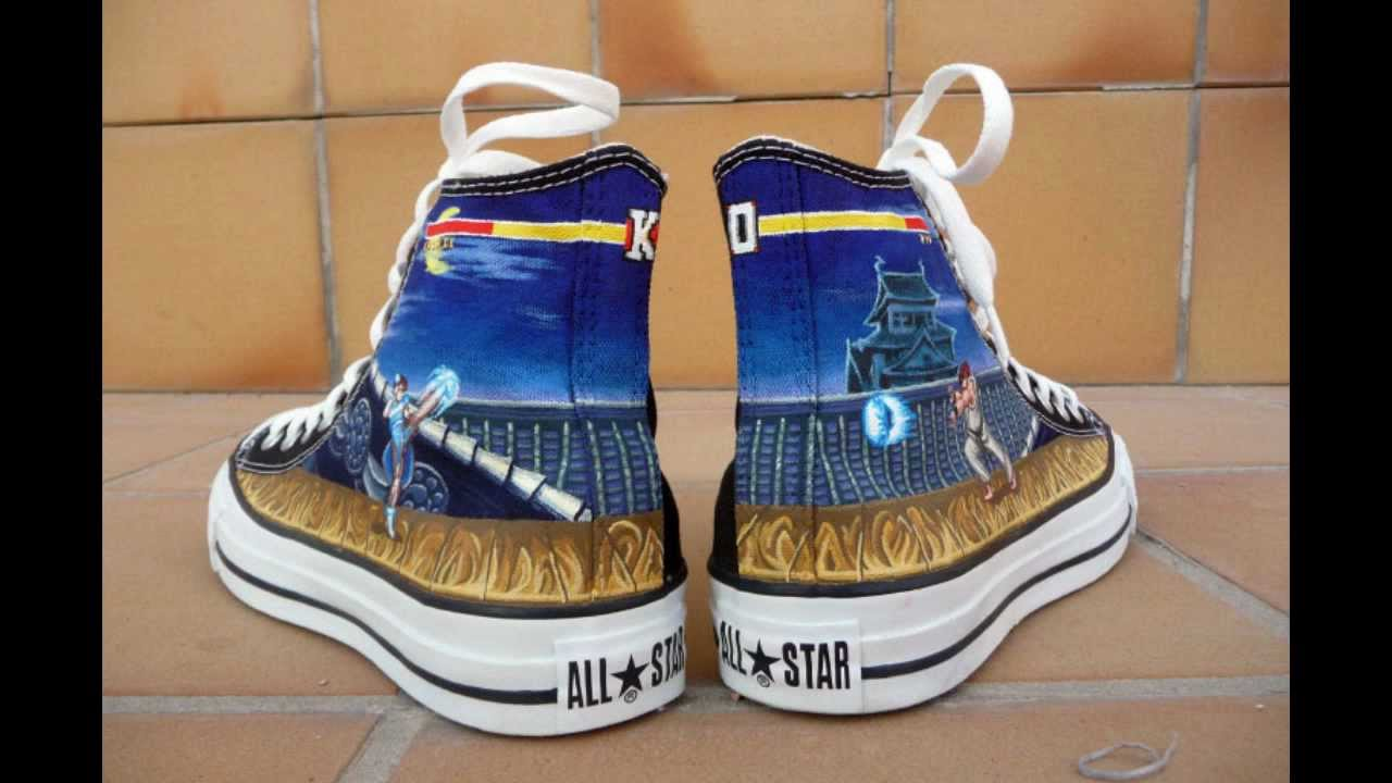 Drawn shoe street fighter Chuck Fighter Street  Shoes