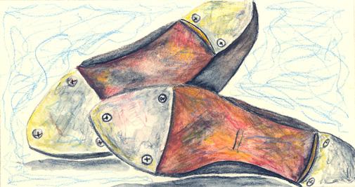 Tap Design Shoes Drama illustration