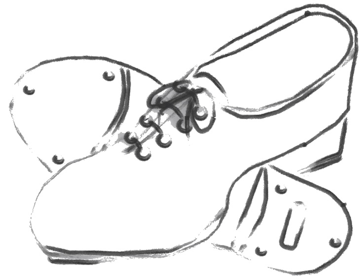 Drawn shoe tap shoe 40 about on Tap Shoes