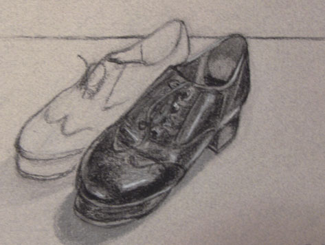 Drawn shoe tap shoe For Shoes Lightly Tap Used