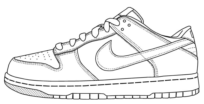 Drawn shoe trainer Drawing 1 force air drawing