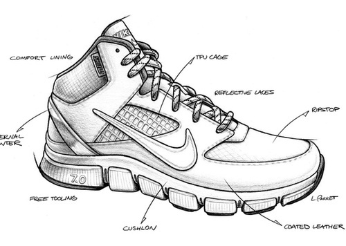 Drawn shoe trainer Images 2 sketch on original