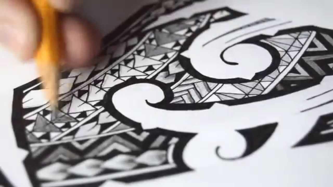 Drawn shoe tribal design #11