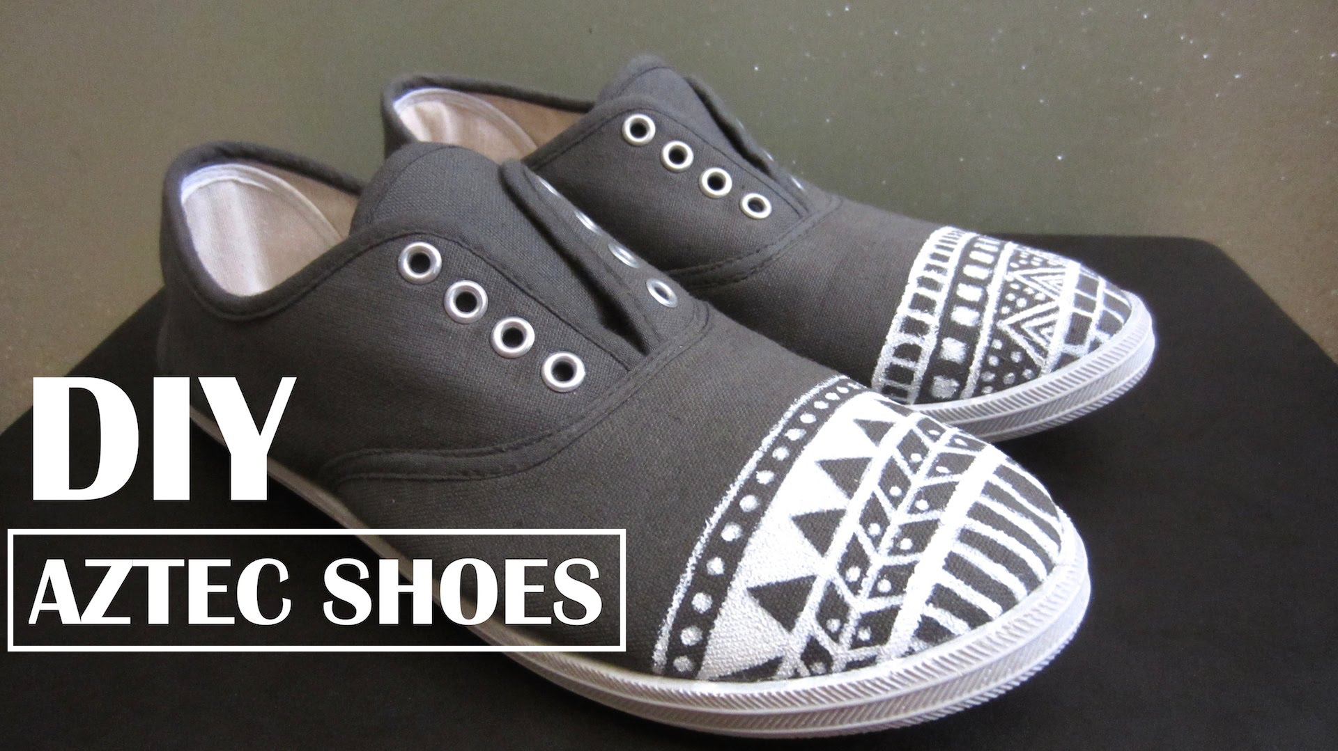 Drawn shoe tribal design Customize Aztec/Tribal How with with