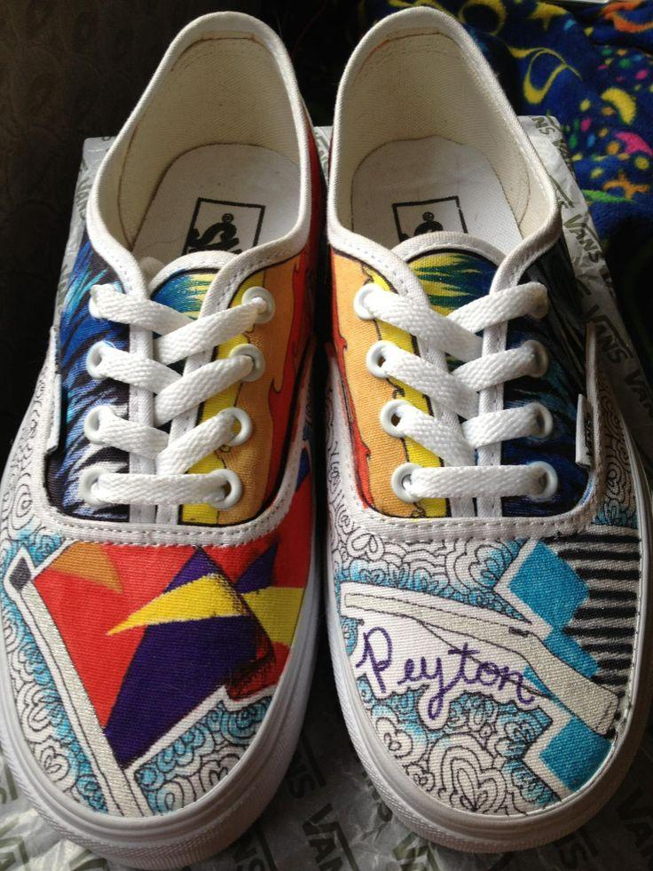 Drawn shoe vans graphic Custom theme #vans Peyton on