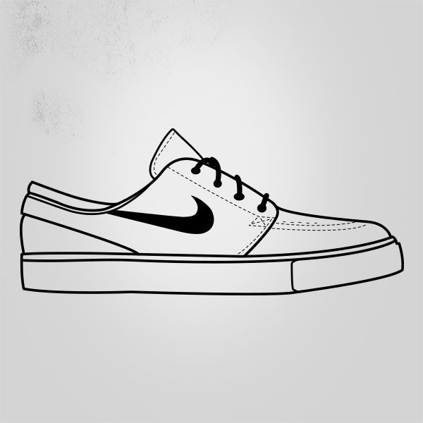 Drawn shoe vector #2