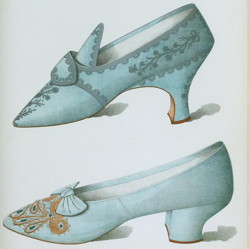 Drawn shoe vintage shoe #1