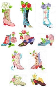 Drawn shoe vintage shoe #12