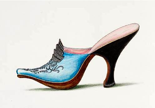 Drawn shoe vintage shoe #8