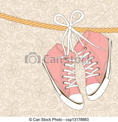 Drawn shoe vintage shoe #6