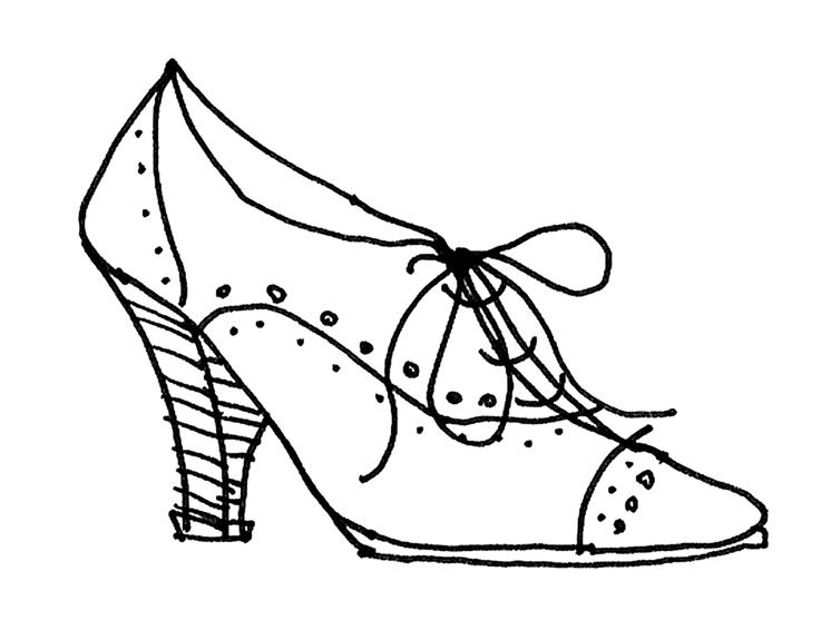 Drawn shoe vintage shoe #7