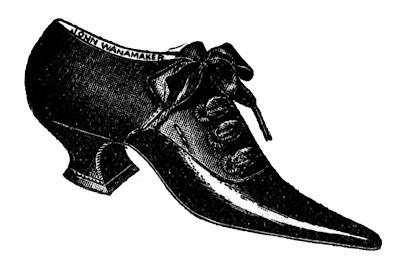 Drawn shoe vintage shoe #10