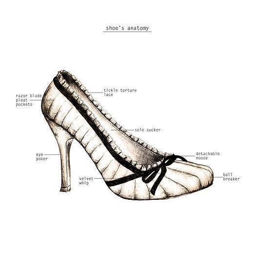 Drawn shoe vintage shoe #9