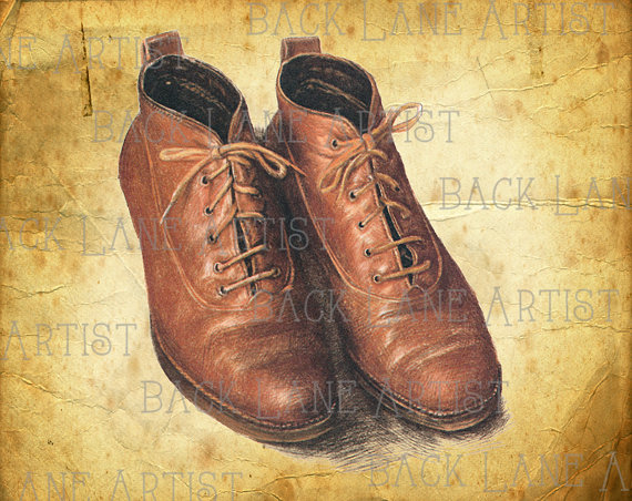 Drawn shoe vintage shoe #2