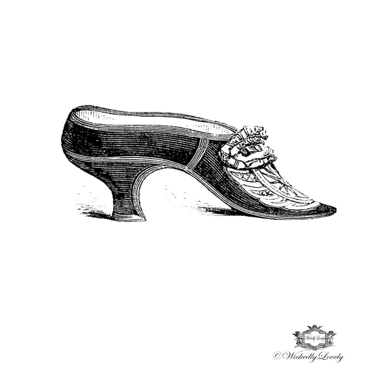 Drawn shoe vintage shoe #3