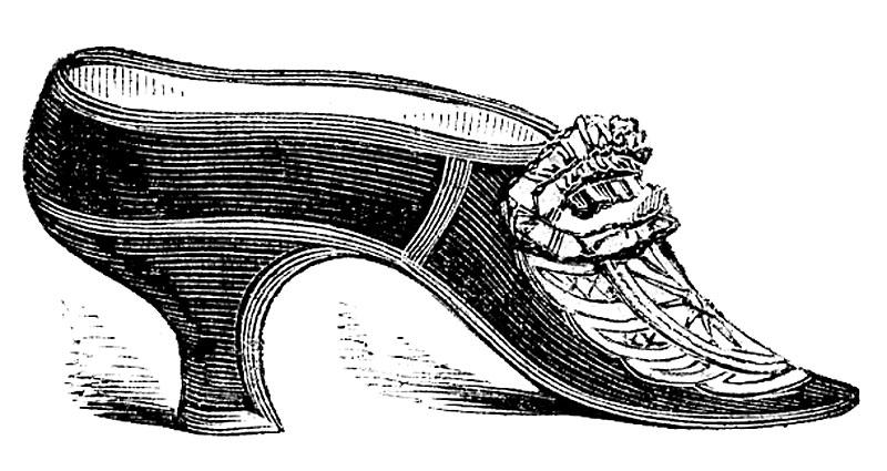 Drawn shoe vintage shoe #4