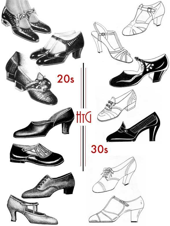 Drawn shoe vintage shoe #5