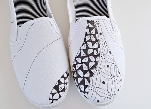 Drawn shoe zentangle #14