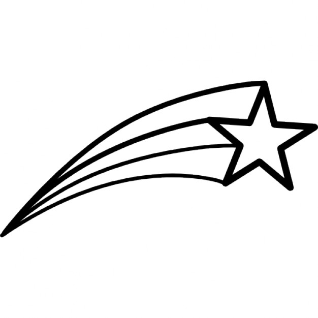 Drawn shooting star Icon Download Free star Shooting
