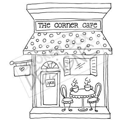 Drawn shop Cafe obrazów najlepszych (Digi Boutique