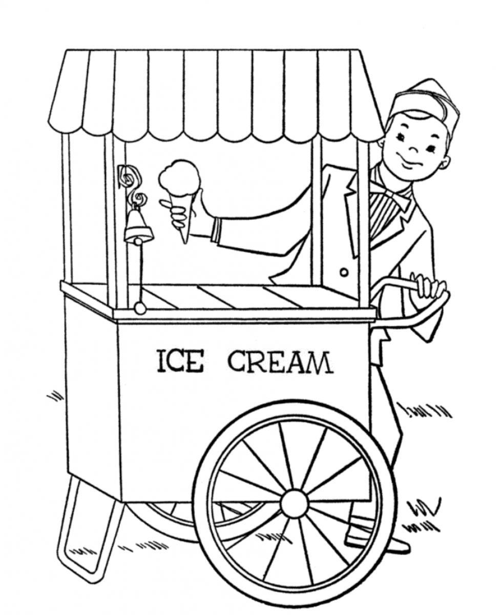 Drawn shop Coloring coloring parlor pages Ice