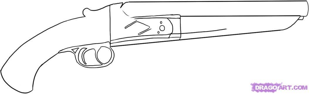 Drawn shotgun Step off sawed Shotgun to