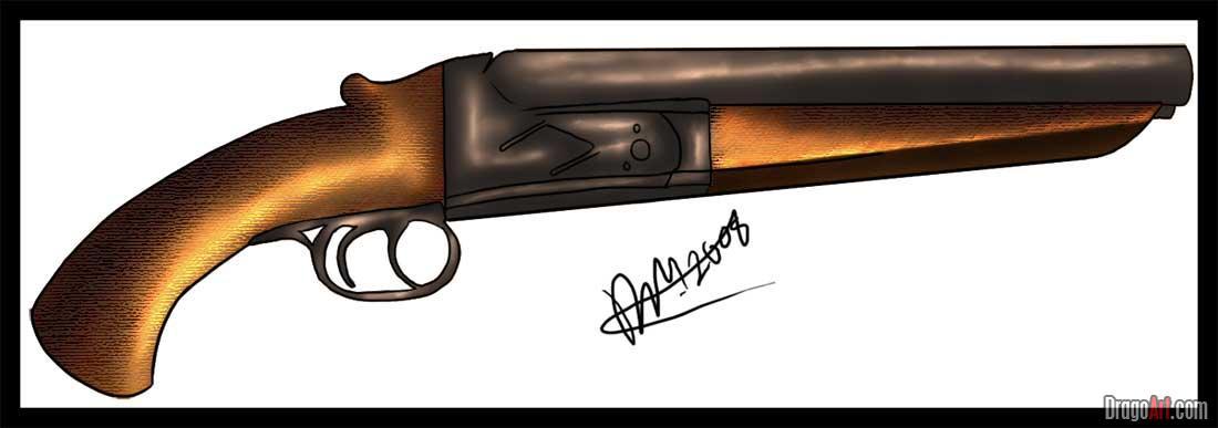 Drawn shotgun How off sawed by to