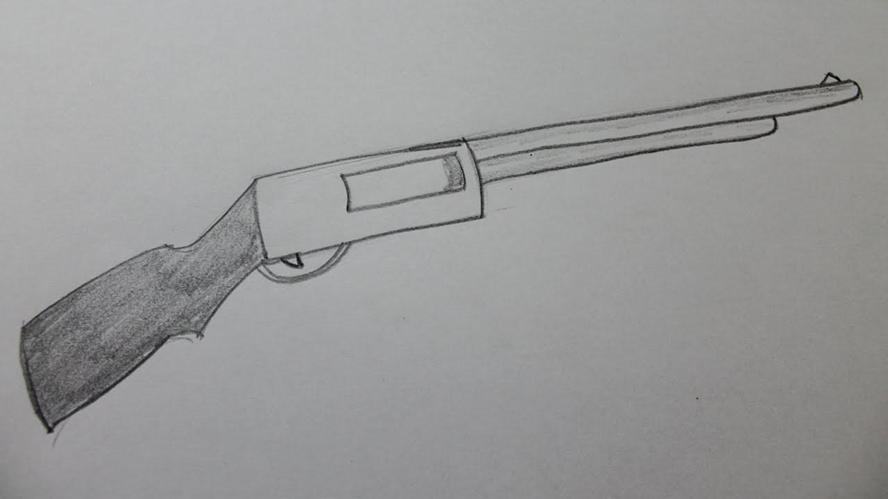 Drawn pistol shotgun Draw How a a shotgun