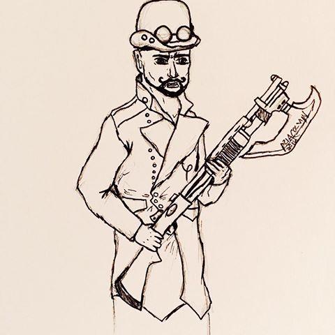 Drawn shotgun axe Next videos and his axe
