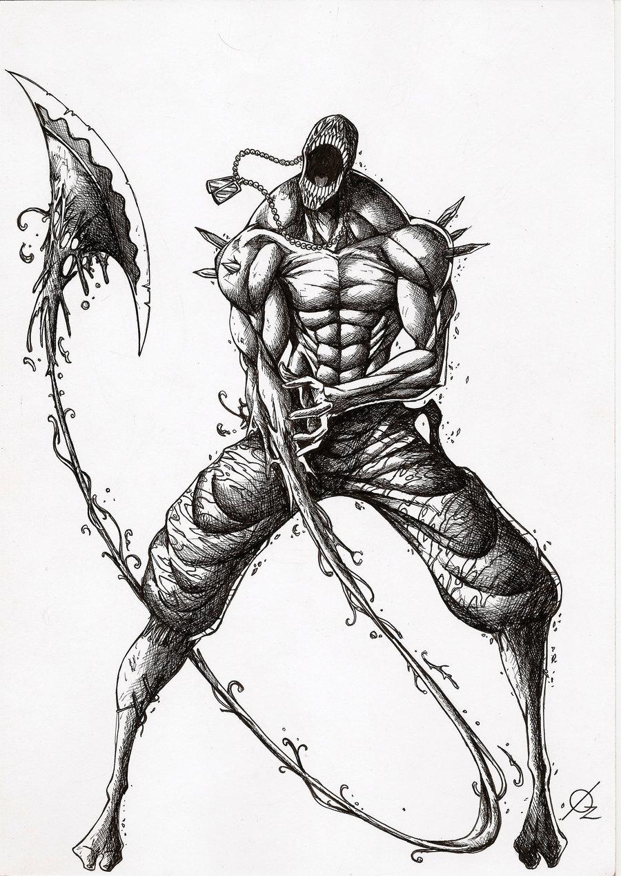 Drawn shotgun axe Silas Golias axe giant hand
